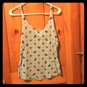 BDG urban outfitters western cactus cowboy tank🌵